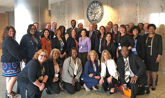 IgnitED attendees visit the U.S. Department of Education.