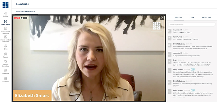 Keynote Elizabeth Smart shares her story and answers questions.