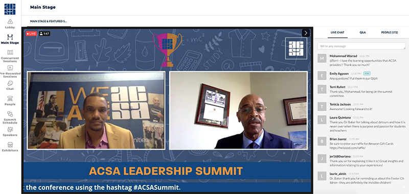 Adonai Mack and Dr. Joseph Jackson on the main stage at Summit.
