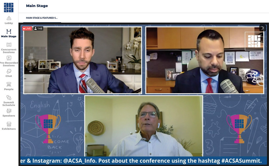 ACSA's 2020 Leadership Summit had a main stage with 20 hours of live content.